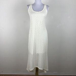Xhilaration crochet high low maxi dress